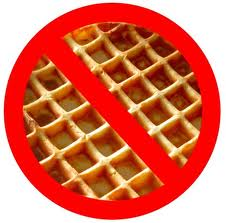 Cut back on the waffle.